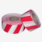 Лента оградительная, цвет красно-белый
