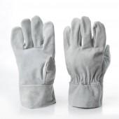 Перчатки спилковые серые
